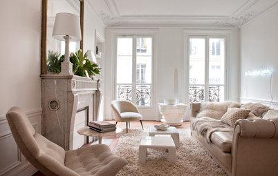 En detalle: Una sala de estar 'blanco sobre blanco' muy curiosa