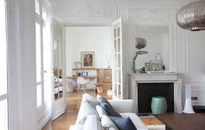 Visite Privée : Un somptueux appartement tout de blanc et de chêne