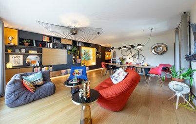 """Visite Privée : Un appartement """"Tetris"""" plein d'audace"""