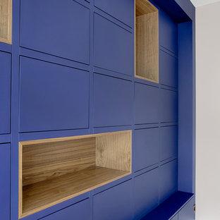 Bibliothèque bleue sur mesure