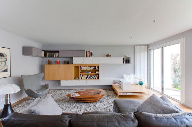 Contemporáneo Sala de estar by Gaëlle Cuisy + Karine Martin, Architectes dplg