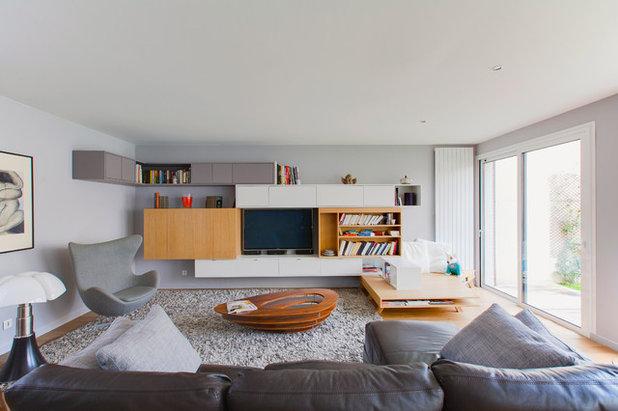 Contemporain salle de séjour by gaëlle cuisy karine martin architectes dplg