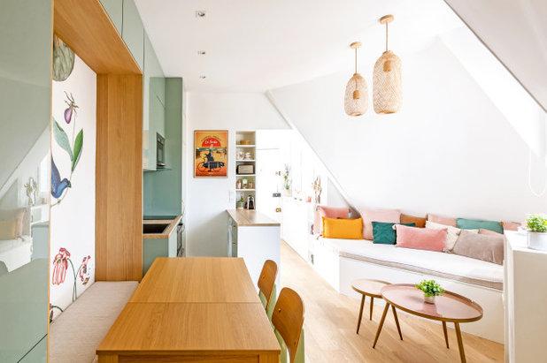 シャビーシック調 ファミリールーム by NEVA Architecture Intérieure - Interior Design