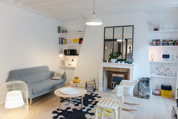 Contemporain Salle de Séjour by Stephan Bidoux Studio