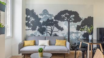 Décoration et ameublement d'un petit appartement rue Breteuil pour Airbnb