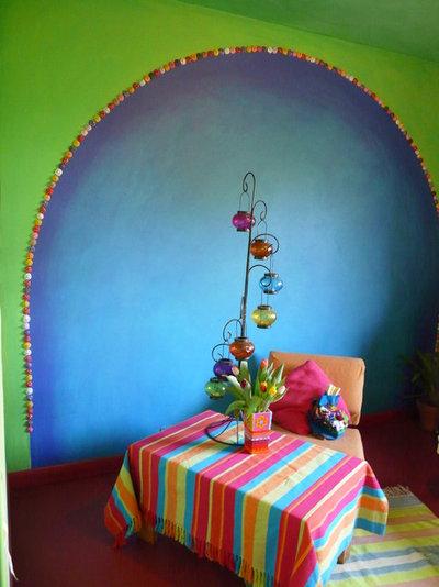 exercice de style couleurs et motifs pour une d co sud am ricaine. Black Bedroom Furniture Sets. Home Design Ideas