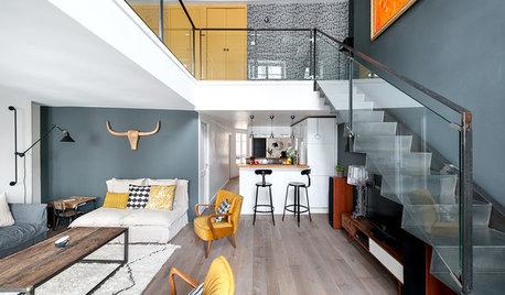 Le Case di Houzz: un Duplex in Stile Industriale, Caldo e Accogliente