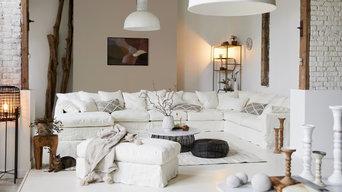 Ensemble modubable canapé lin BIARRITZ