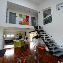 Extérieur et intérieur de maison moderne - Contemporary ...