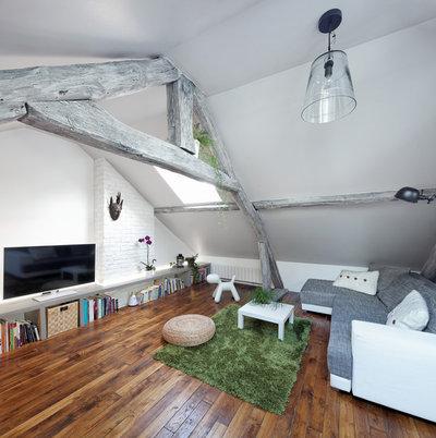 Contemporain Salon by Prisca Pellerin Architecture & Intérieur