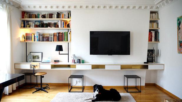 am nager un coin bureau dans le salon. Black Bedroom Furniture Sets. Home Design Ideas
