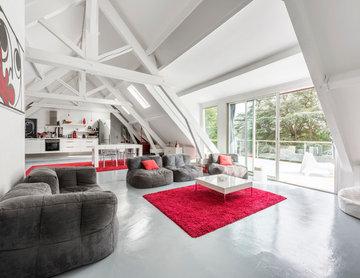 Loft contemporain rénové par architecte designer 2015