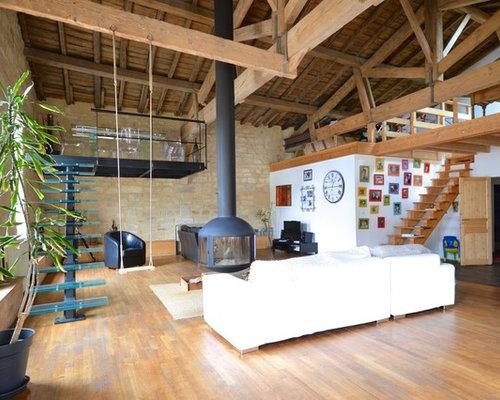 deco salon industriel. Black Bedroom Furniture Sets. Home Design Ideas