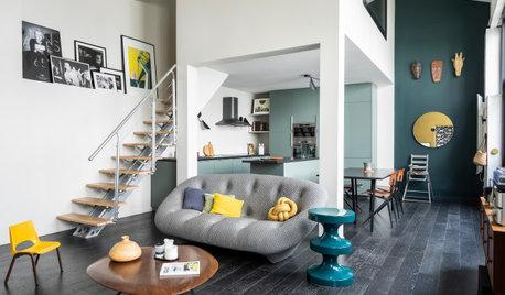 Avant/Après : Loft design et coloré dans un ancien studio photo