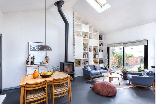 Minimalistisch wohnzimmer by thibault pousset photographe darchitecture