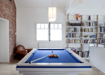 Where is the light above the pool table from?