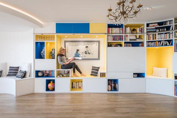 Восточный Семейная комната by Atelier Nadège Nari