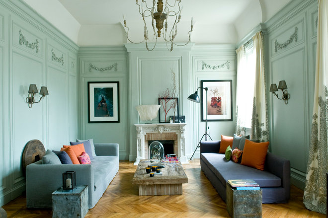 Eclectic Family Room by d.mesure - Elodie Sire