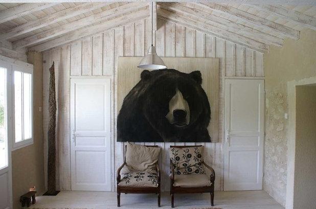 Contemporaneo Salotto by Thierry Bisch - Peintre animalier