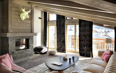 Houzz Франция: Уютный пентхаус в Валь д'Изер в стиле шале