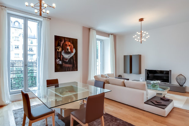 Contemporary Family & Games Room by MEERO
