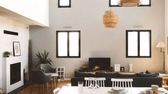 Projet décoration d'intérieur pour une maison neuve tendance classique ethnique