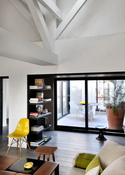 Viel Mut zu Größe und Farbe: Ein cooles Wohnzimmer in Marseille