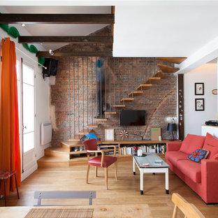 Rénovation appartement PARIS 18 - salle de séjour éclectique