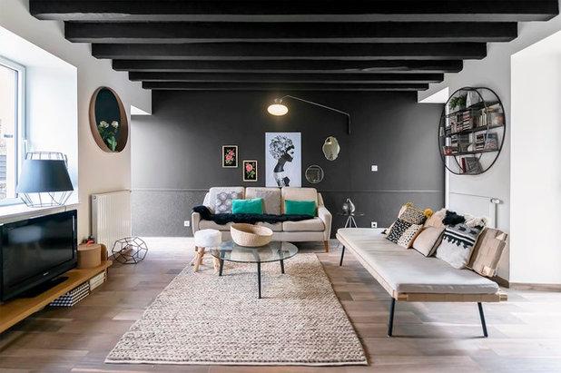 Éclectique Salle de Séjour by Atelier SOFI(A) - Sophie Lallias Architecte DPLG