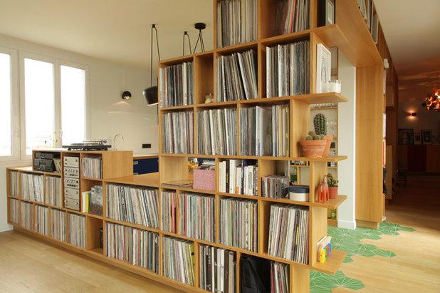 Reizvoll Fliesen Wohnzimmer ~ Zwei bodenbeläge in einem raum wie holzboden mit fliesenboden