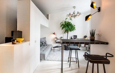 Mini-Apartment in Paris: Geschlafen wird auf dem Einbauschrank