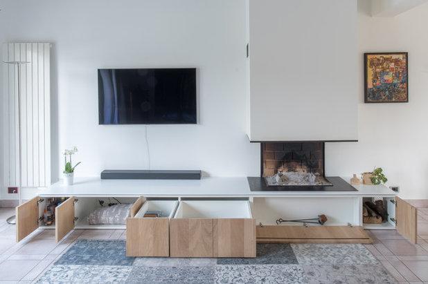 Современный Семейная комната by Maxime HURDEQUINT Architecte