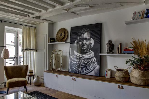 Éclectique Salle de Séjour by Atelier Maureen Karsenty