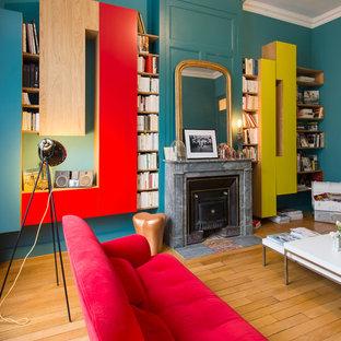 Inspiration pour une salle de séjour design.