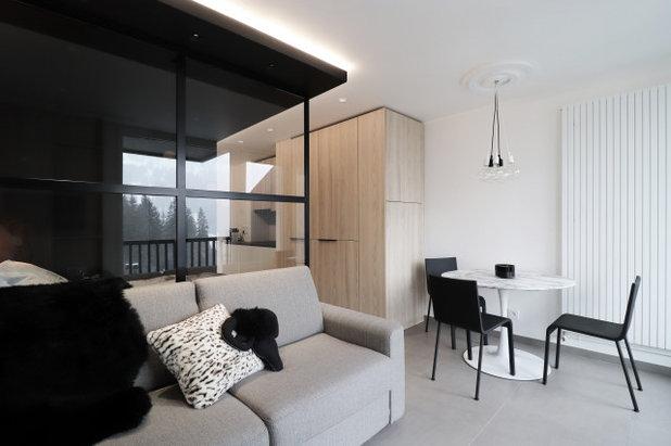 Montagne Salle de Séjour by Manon Papin | Architecte d'Intérieur
