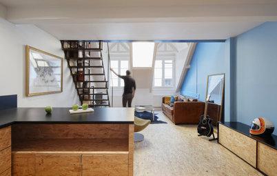 Visite Privée : Jeu de matières pour ce 50 m2 sous les toits