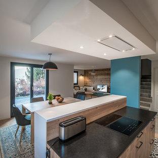 Family room - contemporary family room idea in Grenoble