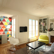 Contemporary Living Room by Camille Hermand Architectures