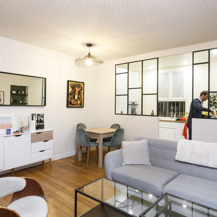 Avant/Après : 64 m² rénové pour un jeune couple dans le 9e