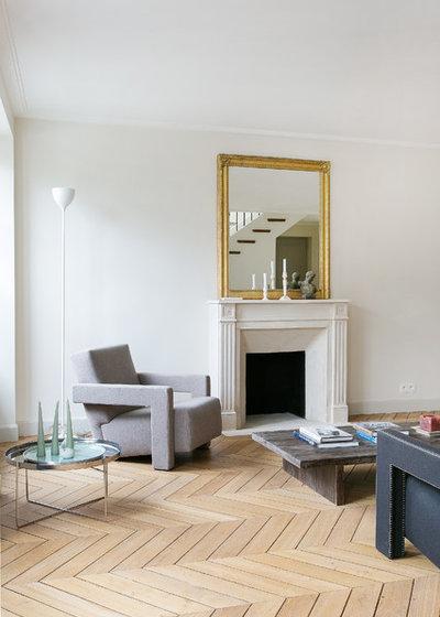 Contemporáneo Sala de estar by A+B KASHA Designs