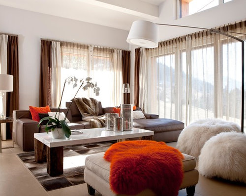 Orange Pillows Brown Couch Ideas, Pictures, Remodel and Decor