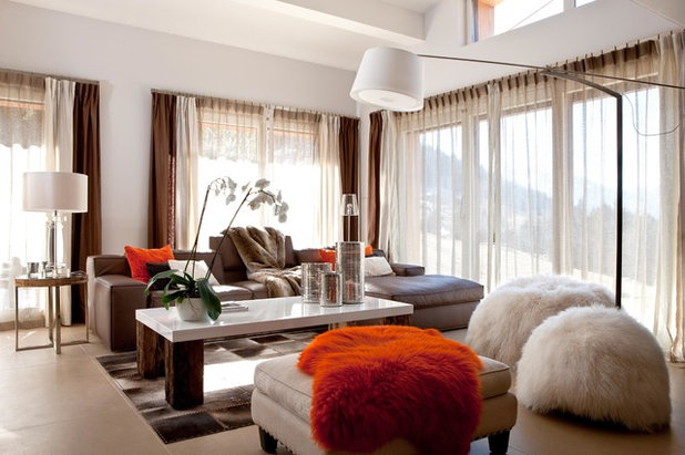 Contemporary Family Room by SCENE DE VIE