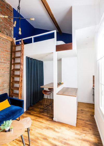 Industriel Salle de Séjour by NEVA Architecture Intérieure - Interior Design
