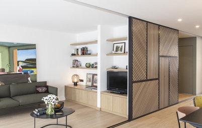 10 panneaux coulissants modulent les espaces