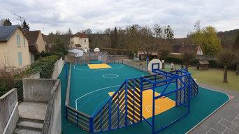 Sol-Sportif.com - Rénovation d'un terrain multisports dans une école