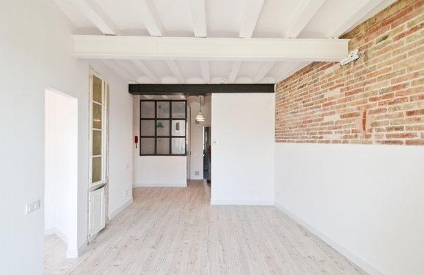 Casas houzz 48 metros de vivienda y despacho para dos personas for Amueblar despacho casa