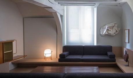 Casas Houzz: Un apartamento abuhardillado para dos en París