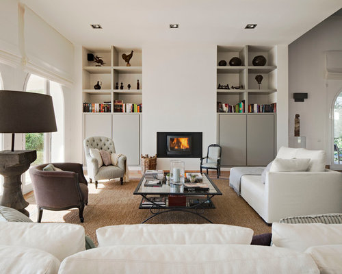 Living Room Design Ideas Renovations Photos With A Wood Burning Stove