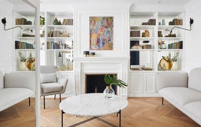 Casas Houzz: Tonos intensos en un piso de estilo clásico renovado