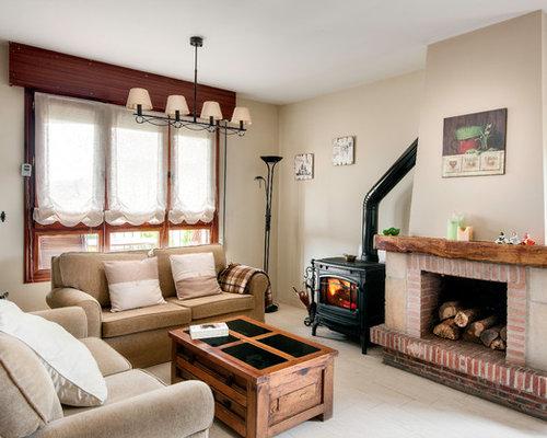 foto de sala de estar abierta de estilo de casa de campo de tamao